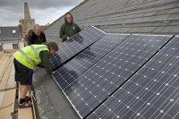 Bethesda Methodist Church in Gloucestershire - putting 32 PV panels on the south facing roof