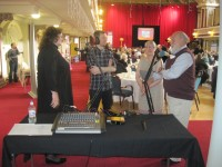 Cross Rhythms presenter Chris Mountford interviewing guests at the Civic Prayer Breakfast