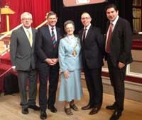 Robert Mountford - CVM, Ian Dudson - Lord Lieutenant of Staffordshire, Shelia Pitt - Lord Mayor of Stoke-on-Trent, Lloyd Cooke - Saltbox and Rob Flello - MP Stoke South