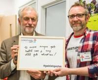 Jeremy Corbyn and Andy Flannagan