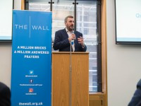 Richard at a parliamentary reception for The Wall of Answered Prayer