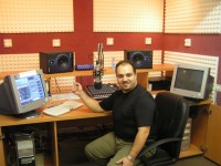 Yusef Dakwar at his internet radio studio