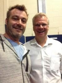 Paul Calvert with Michael McCann