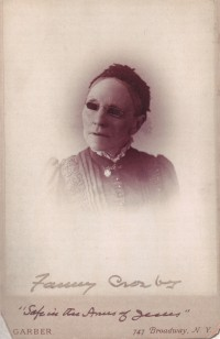 Fanny Crosby (photo: Garber; Moody Bible Institute)