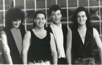 Newsboys c1990, John James 2nd from left