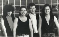 Newsboys c1990, John James 2nd from left