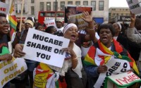Demonstration against the Mugabe regime