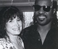 Charlene with Stevie Wonder