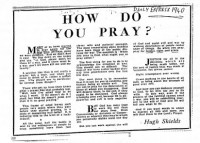Figure 7.13. Tips on how to pray during WW2. Source: Daily Express, 1940.