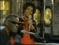 Sara Jordan Powell with Ray Charles