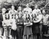 Bob with Jesus followers, Berkeley, 1970