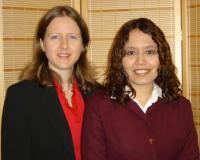 Rosemary Gibbons (left) and Nidia Gonzales