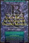 B&h Espanol Editorial Sta - Santa Biblia Letra Grande Tamano Manual/Hand Size Giant Print Reference Bible