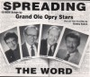 Product Image: Justin Tubb, Charlie Louvin, Bobby Sykes, Jack Greene - Spreading The Word: Grand Ole Opry Stars
