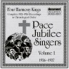 Product Image: Pace Jubilee Singers, Four Harmony Kings - Complete Recordings In Chronological Order Vol 1 1926-1927