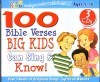 Product Image: Wonder Kids - 100 Bible Verses Big Kids Can Sing & Know!